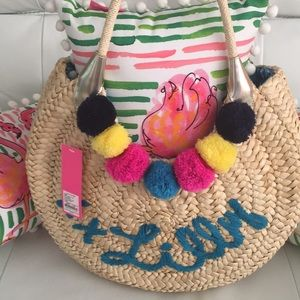 Lilly Pulitzer straw bag
